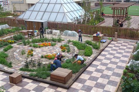 rooftop farms  japanese train stations serve