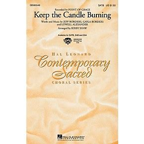Hal Leonard Keep The Candle Burning Sab By Point Of Grace