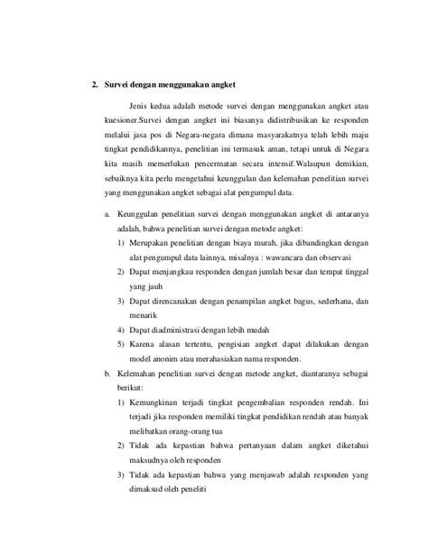 aturan membuat kuesioner makalah penelitian survei