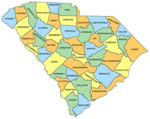 carolina state map showing counties freezer sales of and south carolina location