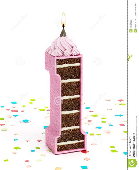 candela accesa numeri 1 a forma di torta di compleanno cioccolato con