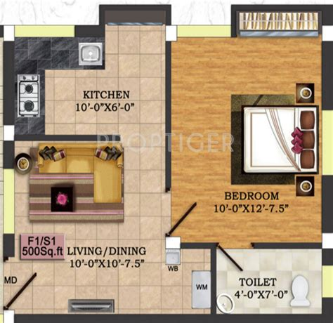 500 sq ft 1 bhk 1t apartment for sale in uday realcon east 500 sq ft 1 bhk 1t apartment for sale in rkn kps flats