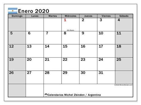 calendario enero  argentina