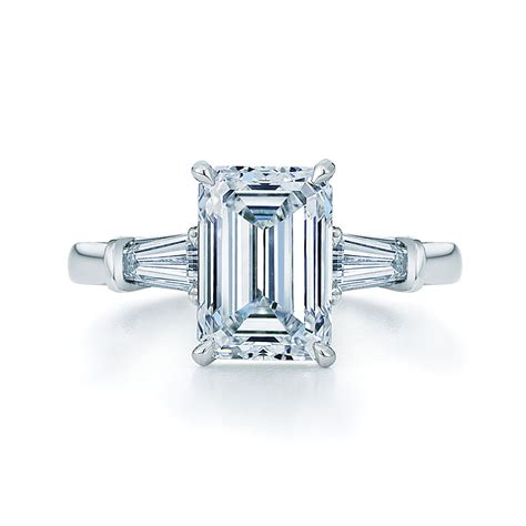 Emerald Cut Engagement Rings by Vintage Emerald Cut Engagement Rings Emerald Cut