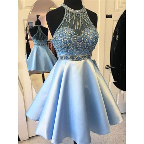 light blue spaghetti prom dress mini prom dresses light blue mini homecoming