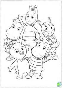 backyardigans coloring pages the backyardigans coloring page dinokids org