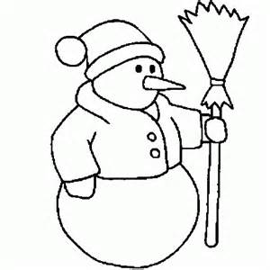 winter coloring coloring snowman winter nose carrot