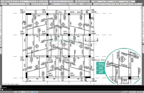 Sample Floor Plan Layout by Inclined Pitched Roof Concrete Slab Reinforcement Example