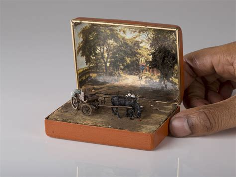 tiny in a box artist transforms vintage ring boxes into tiny detailed