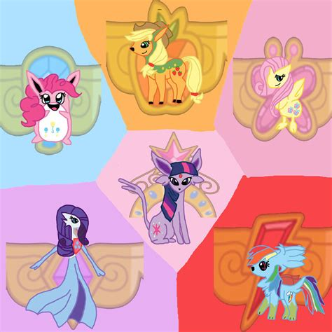 my little pokemon mane 6 by wolther on deviantart