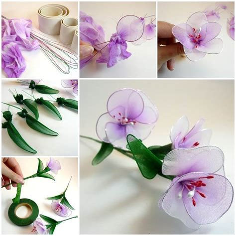 diy beautiful diy beautiful flowers from and tights