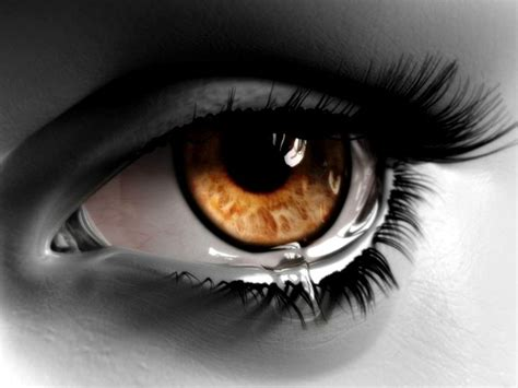 the crying eye brown eyes crying don t cry pinterest brown eyes