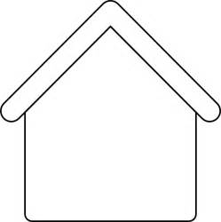 House Outline Template by Gingerbread House Outline Clip At Clker Vector