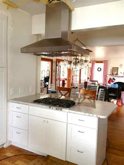 Kitchen Island Vent Hoods Installing An Island Vent Diy Projects Pinterest