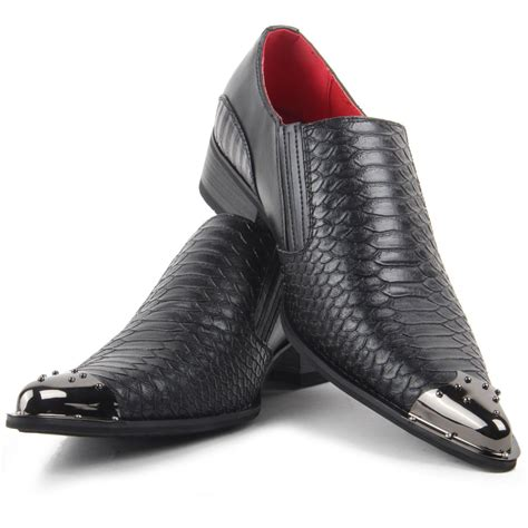 Toe Slip On Casual Shoes smart casual shoes croc skin slip on metal toe