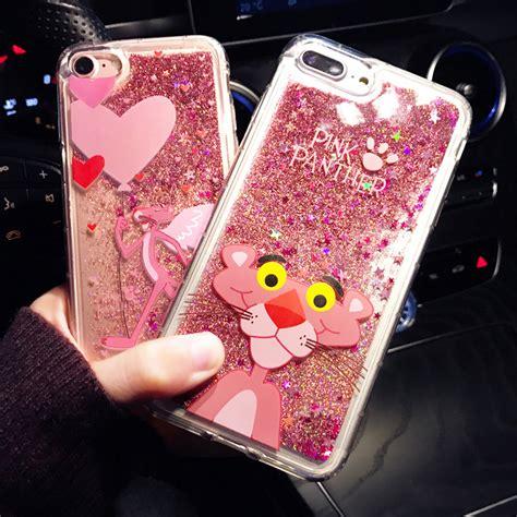 cartoon flower bottle quicksand dynamic liquid glitter phone case  iphone  cases  iphone