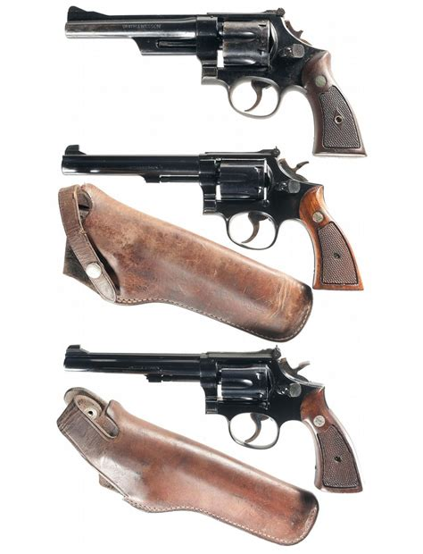 k d smith auctions collector s lot of three smith wesson double action