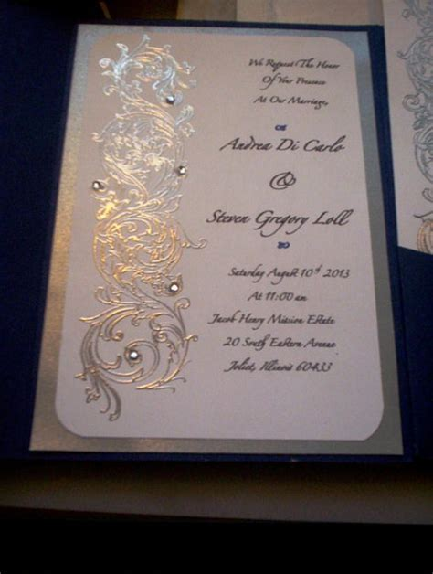 33 Silver Wedding Invitations Ideas   Wohh Wedding