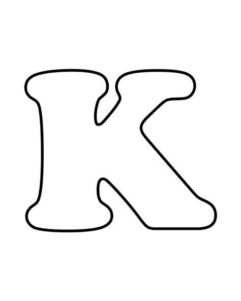 Free Coloring Pages Of Large Letter K K Coloring Page