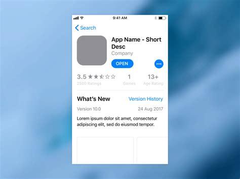 Ios 11 App Store Template Free Sketch Apemockups Ios App Templates Free