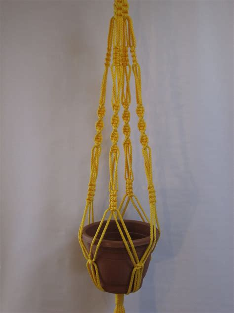 Plant Hangers - macrame plant hanger vintage style 40 inch 6mm