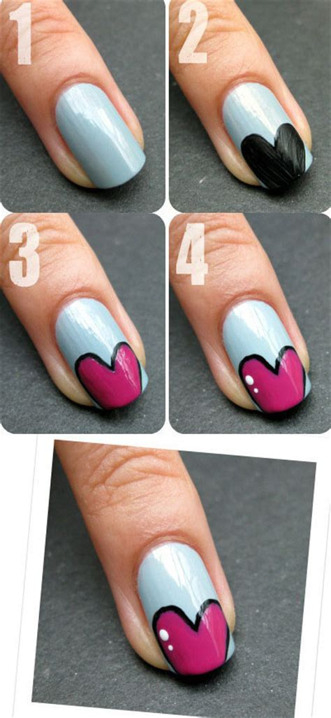 amazing nail art tutorial amazing valentine s day nail art tutorials 2014 for