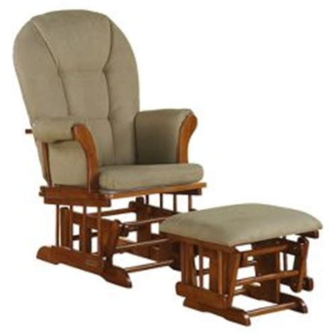 shermag alexis glider rocker and ottoman combo storkcraft tuscany espresso frame glider and ottoman target