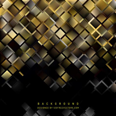 and black design abstract black gold square background design 123freevectors