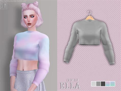 sims 4 cc crop tops ella crop top by screaming mustard at tsr 187 sims 4 updates