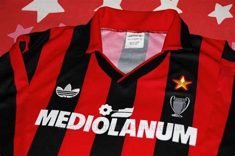 mediolanum napoli ac milan home maglia di calcio 1990 1991 aggiunta su