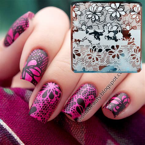 flower pattern on nails 1 99 flower texture nail art st template image plate