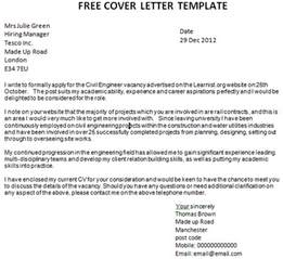 free covering letter post reply