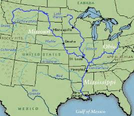 us map showing states and mississippi river mississippi