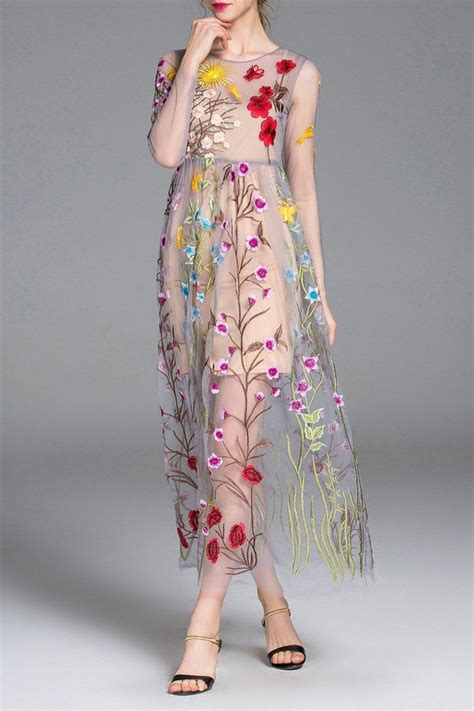 Maxi Lace Flowery floral maxi sheer swing dress floral floral maxi and