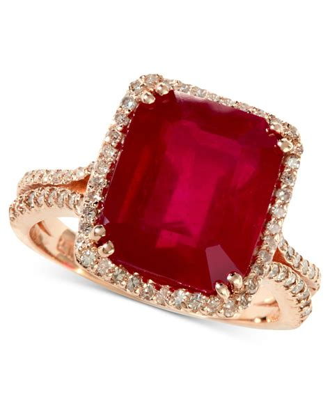 Ruby Cutting 7 58 Ct lyst effy collection rosa by effy emerald cut ruby 7 5 8 ct t w and 1 2 ct t w