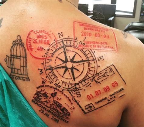 travel tattoo 13 beautiful travel inspired tattoos that will give you