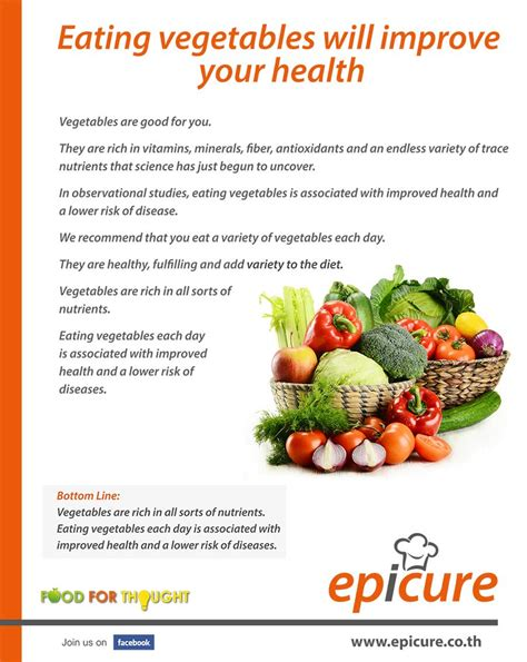 vegetables will eat vegetables will improve your health epicure