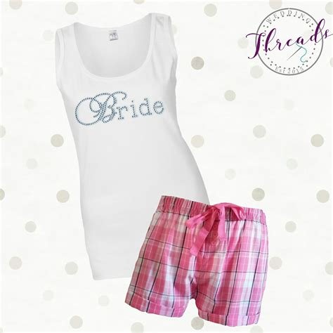 braut pyjama personalised bridal pyjamas pajamas bridesmaid pjs