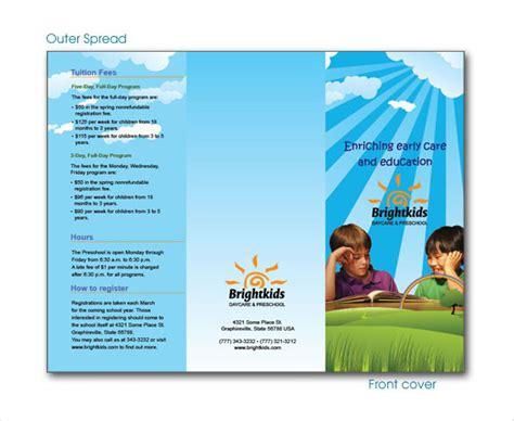 14 Daycare Brochure Templates Free Psd Eps Illustrator Ai Pdf Format Download Free Preschool Brochure Template Free