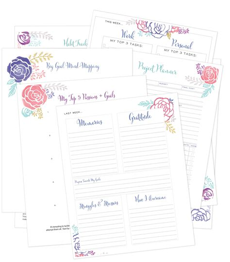 free printable life planners free printable life planning pages money saving mom 174