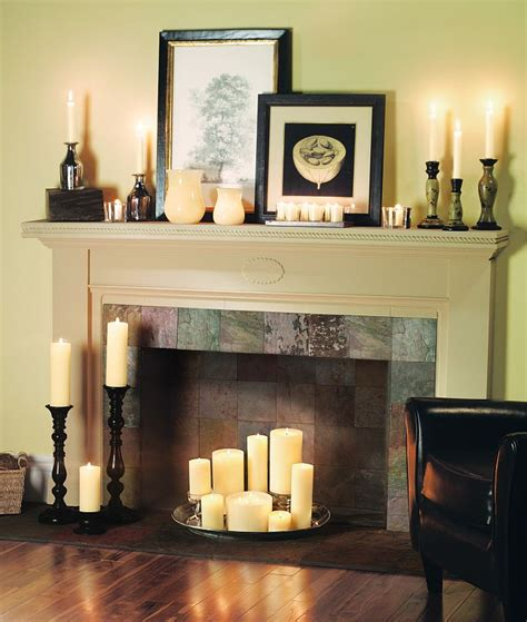 candles in fireplace candle fireplaces on pinterest candle fireplace