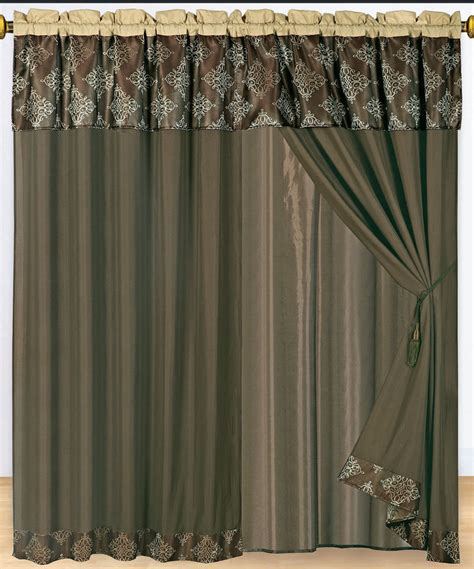 decorative window curtains set of 2 coffee thomasville decorative window curtain