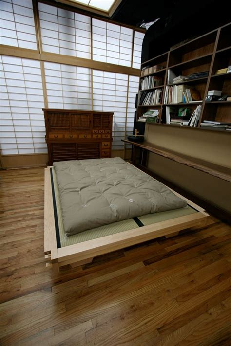 traditional japanese futon bed top beds real kyoto tatami platform bed quot miya shoji