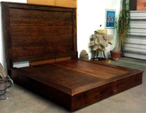 reclaimed barn wood beds headboards platform beds