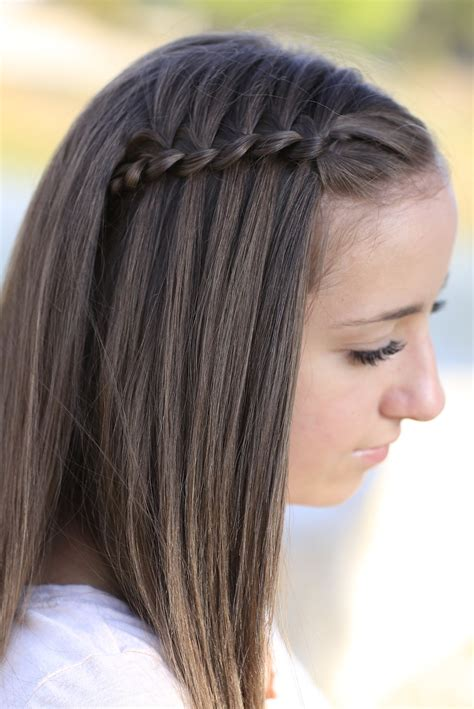 pretty hairstyles using braids waterfall braids cute girls hairstyles page 2