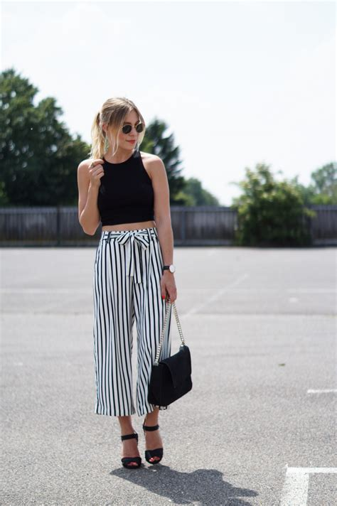 Cullote Wedges striped culotte x crop top sariety