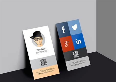 vertical business card design template free vector in