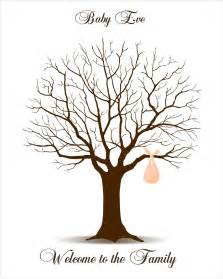 Baby Shower Thumbprint Tree Template by Baby Shower Guest Book Fingerprint Tree Baby Shower