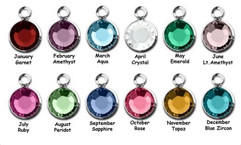 april birthstone color birthstone by month