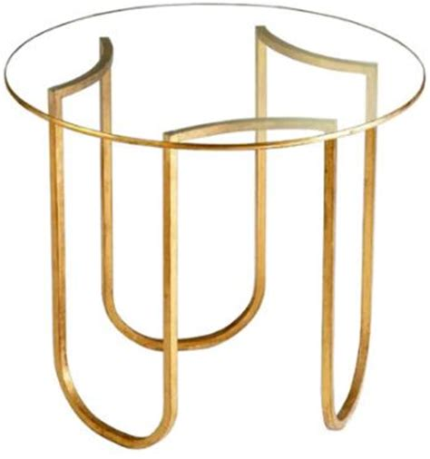 gold table l base gold base colette side table